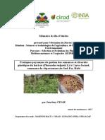 Pratiques paysannes de gestion des semences et diversité génétique du haricot (Phaseolus vulgaris L) à Cayes-Jacmel, commune du département du Sud-Est, Haïti