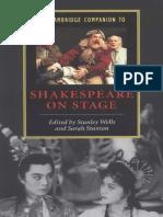 Stanley Wells, Sarah Stanton - The Cambridge Companion to Shakespeare on Stage (Cambridge Companions to Literature) (2002).pdf