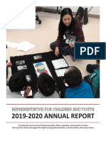 Nunavut Representative on Children and Youth Annual Report 2019-20
