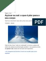 Açúcar ou sal