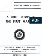 A Brief History of the First Marines