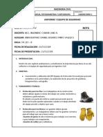 LABORATORIO 1-UNIFORME Y EQUIPO DE SEGURIDAD