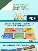 LECTIA  DE  EDUCATIE  FIZICA - Verigile lectiei -Rusu Elena.ppt
