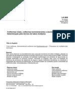 NORMA TÉCNICA L5.202 - Coliformes totais, coliformes termotolerantes e Escherichia coli - Determinação pela técnica de tubos múltiplos