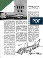 Aircraft Described. Fiat g91. Aeromodeller January 1959