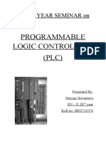 Seminar Report on programmable logic controller (plc