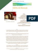 Mais Você _ Culinária - Doces e sobremesas - RECEITA IMPRESSAO - Escondidinho de Maracujá