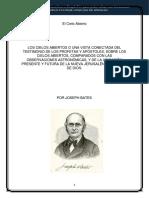 PANFLETO N° 01 - EL CIELO ABIERTO - JOSE BATES 1846