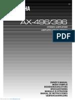 Yamaha AX-396 - Owner's Manual
