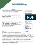Anomalías y displasias dentarias de origen genético-hereditario