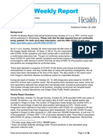 Oregon Health Authority COVID-19 weekly report (published 10/28)