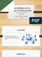 Generalidades de los sistema de información