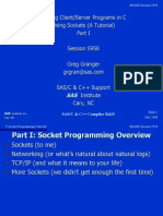 C Socket Programming Tutorial- Writing Client_Server Programs in C Using Sockets - Corporate Microcomputing Department