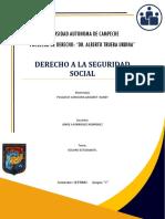 DERECHO A LA SEGURIDAD SOCIAL