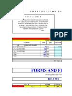 FORMWORKS & SCAFFOLDINGS estimates