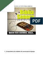 Sonoplastia ao vivo para Igrejas