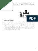 Tutorial on Pipe Modeling using AVEVA E3D software