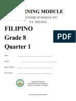 FILIPINO 8 -1st Quarter