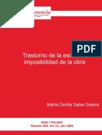 Trastorno de la escritura, imposibilidad de la obra.pdf