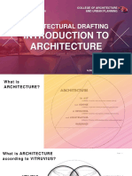 Architectural Drafting - Lecture 1 - Introduction to Architecture