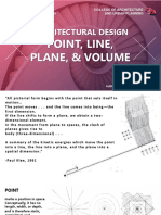 Architectural Design 1 - Lecture 2  - Point, Line, Plane, & Volume