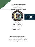 Riska Aulia - 1811102415119 - Laporan Resmi Spektrofotometri UV