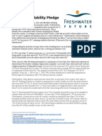 Freshwater Future - Water Affordability Pledge