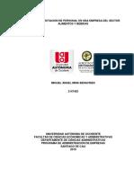 Importante, estudio de  rotación de personal en una empresa del sector R