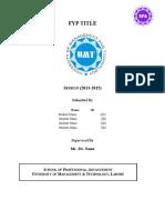 FYP Documentation Template - Supervisor