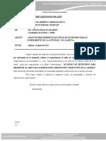 informe N° 065-2020 requerimiento de utiles