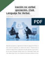 Comunicación no verbal en la negociación JAVIER TORREGOZA