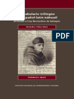 Vocabulario Trilingue Español, Latín Náhuatl