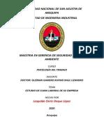 ESTUDIO DEL CLIMA LABORAL DE SU EMPRESA