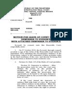 motion for leave Demurrer)melgar