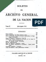 ARCHIVO GENERAL DE LA NACION BOLETIN 1931_N4