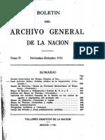 ARCHIVO GENERAL DE LA NACION BOLETIN 1931_N6