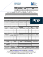 Formato de performance de trabajo