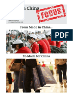 'Made in China' to 'Made for China'