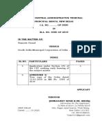 Preponement Application Ramesh Kumar
