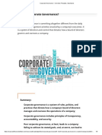 Corporate Governance - Overview, Principles, Importance