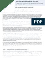 4 - Comment créer des groupes thématiques et des pages piliers - Transcript