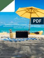 Job Vacancy Opening Assistant Procurement Manager