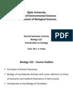 Bio 122 - Lecture 1