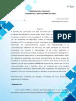 A- URNAU E DE MARCO - SEGURANÇA NO TRABALHO CONSIENTIZAÇÃO NO CANTEIRO DE OBRAS