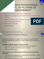 PROGRESSION PEDAGOGIQUE UN OUTIL DE PILOTAGE DE L'ENSEIGNEMENT