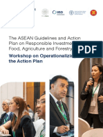 Outcome Report - The ASEAN Guidelines and Action Plan on Responsible Investment in Food, Agriculture and Forestry