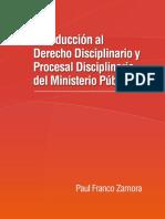 Derecho Disciplinario Ministerio Público - Paul Franco Zamora