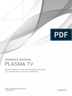 LG Plasma TV-50PJ560R user manual