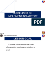 lesson 1.3 GUIDELINES ON IMPLEMENTING ARREST