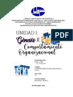 UNIDAD I - GENESIS DEL COMPORTAMIENTO ORGANIZACIONAL
